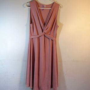 Alya Sleeve Above Knee Slip Dress Flowy Sz L